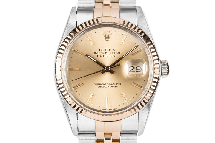 1985 Rolex Two-Tone DateJust 16013 with Box and Papers photo