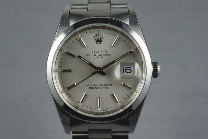 2000 Rolex Oyster Perpetual Date 15200 with Box and Papers photo