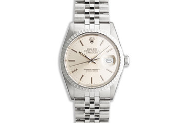 1987 Vintage Rolex DateJust 16030 Silver Dial photo