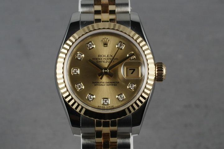 2008 Rolex Ladies Tone Datejust  179173 photo