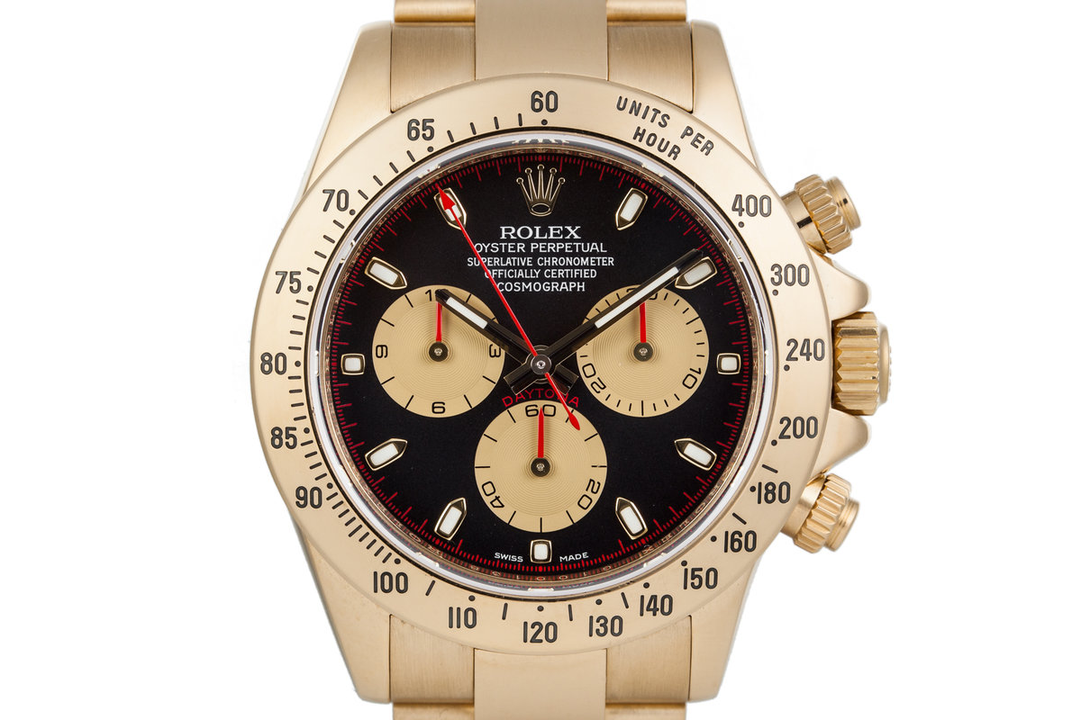 2010 Rolex 18K YG Daytona 116528 with Box and Papers photo, #0
