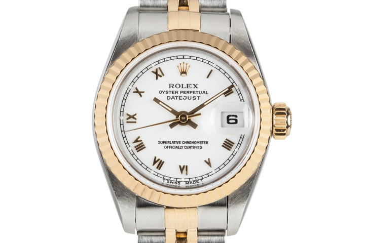 1995 Rolex Two Tone Ladies DateJust 69173 with Box and Papers photo