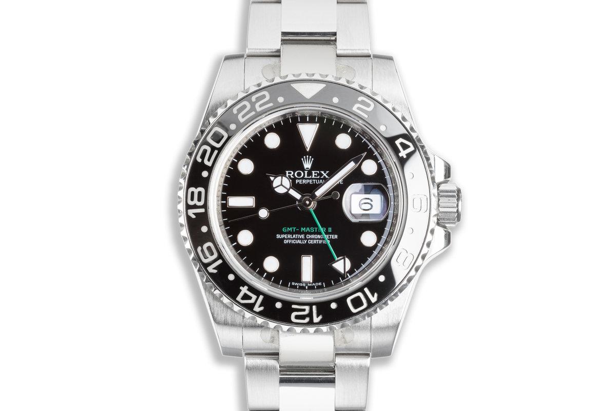 2009 Rolex GMT-Master II 116710LN Black Bezel with Box & Card photo, #0