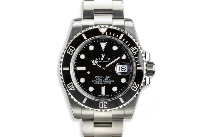 2015 Rolex Submariner 116610LN with Box and Papers photo