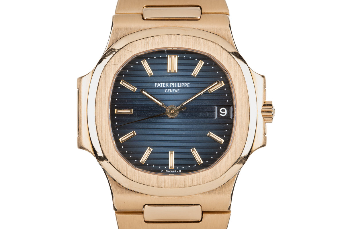 1988 18K Patek Phillipe Nautilus 3800/1 Sigma Dial with Box and Papers photo, #0