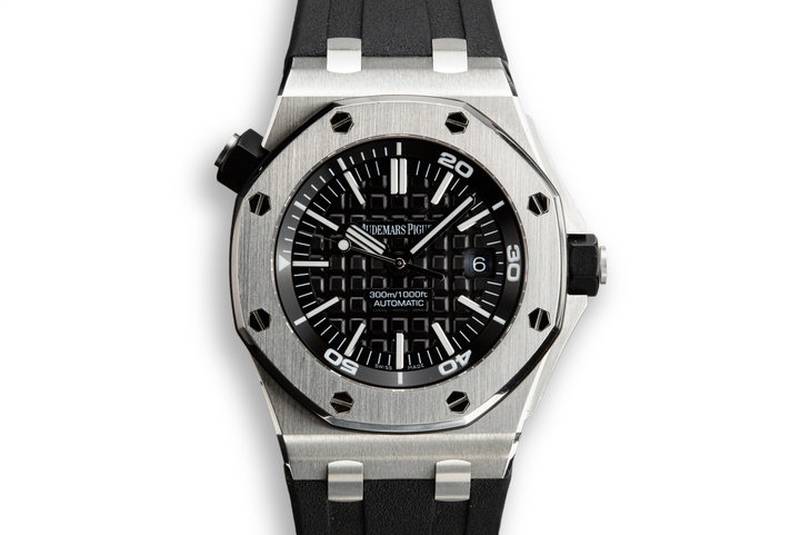 2011 Audemars Piguet Royal Oak Offshore Diver 15703ST.00.A002CA.01 with Box and Papers photo