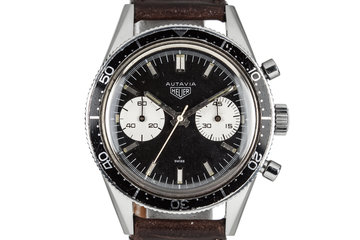 "Heuer Autavia 3rd execution 3646 ""Mario Andretti"" photo"