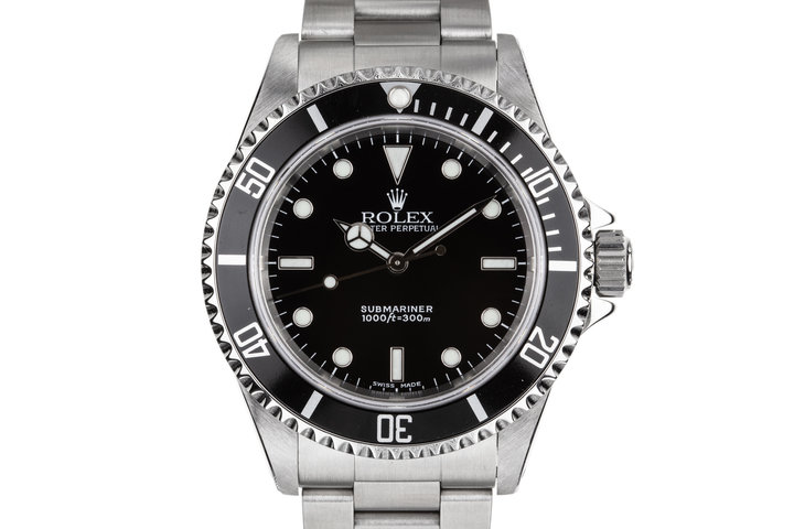 2002 Rolex Submariner 14060M with Box, Papers, and Service Papers photo
