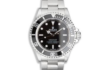 2008 Unpolished Rolex 4 Line Submariner 14060M photo