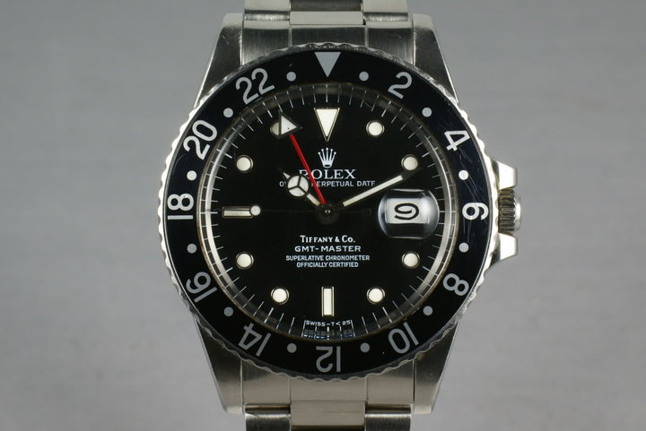 Rare Rolex GMT 16750 with Tiffany and Co Dial photo