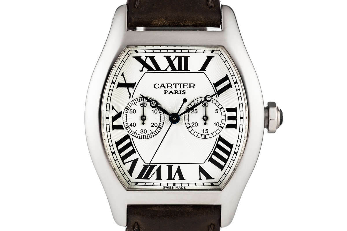 Cartier Tortue Chronograph 18K White Gold Manual W1546551 with Box and Papers photo, #0