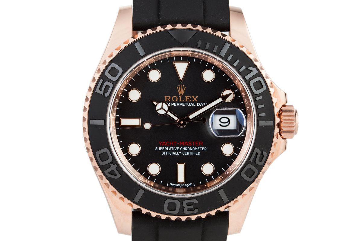 2017 Rolex 116655 Yacht-Master 18K Rose Gold with Box and Papers photo, #0