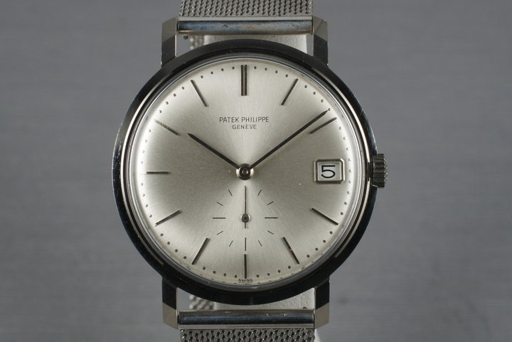 Vintage 18K White Gold Automatic Patek Philippe 3445 photo
