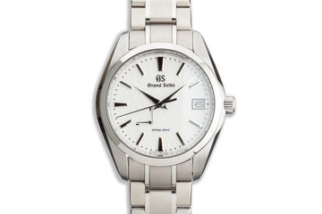 Grand Seiko Heritage Collection Snowflake Dial SBGA211 Titanium Case with Spring Drive Box & Papers photo