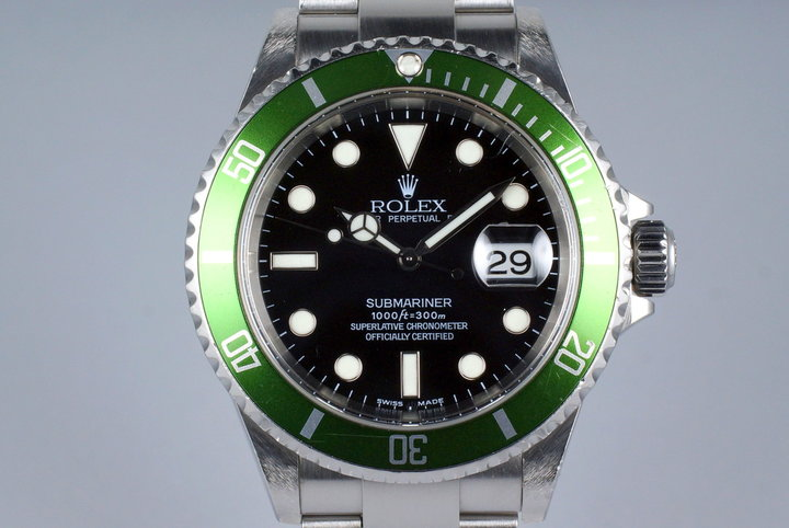 2004 Rolex Green Submariner 16610V Mark I Dial with RSC Service Estimate photo