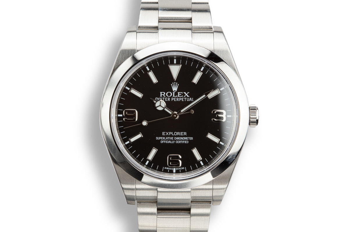 2014 Rolex 40mm Explorer I 214270 with Box and Papers photo, #0