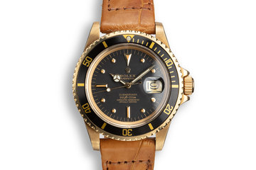 1978 Rolex 18K YG Submariner 1680 with Black Nipple Dial photo