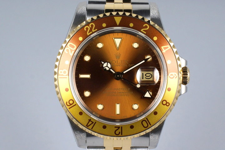 1988 Rolex Two Tone GMT II 16713 Root Beer photo