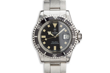 1981 Vintage Tudor Snowflake Submariner 94110 with Service Card photo
