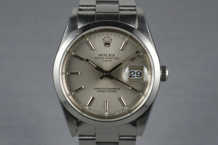 1997 Rolex Date 15200 with Box & Papers photo