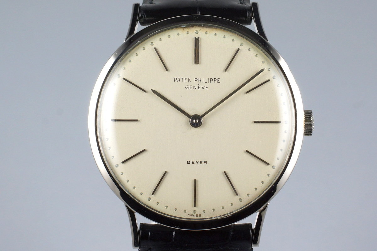 Vintage WG Patek Philippe 3484 with Beyer Double Name Dial photo, #0