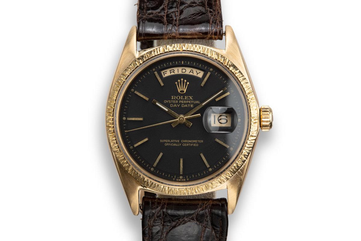 1969 Rolex 18K YG Day-Date 1807 Matte Black Dial photo, #0