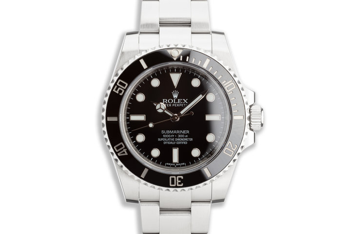 2016 Rolex Submariner 114060 with Box and Card photo