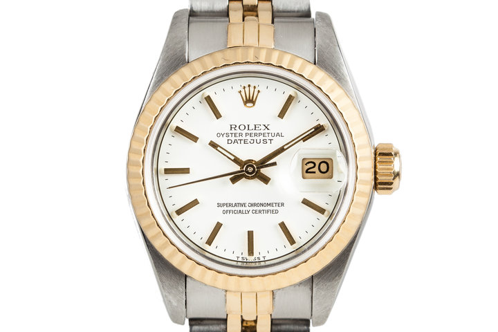1985 Rolex Ladies DateJust 69173 White Dial with Box and Papers photo