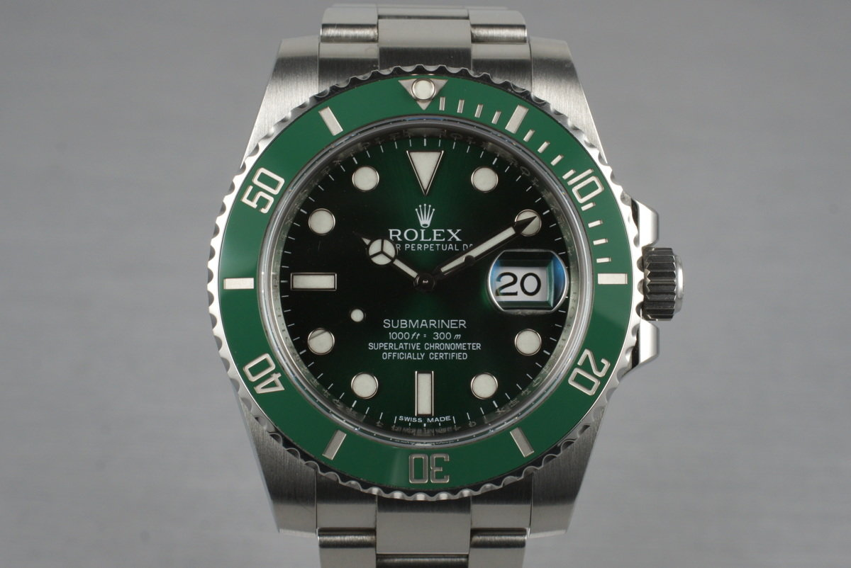 2010 Rolex Green Submariner 116610V with Box and Papers photo, #0