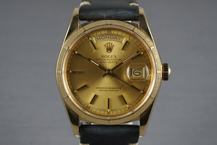 1985 Rolex YG Bark Day-Date 18078 photo