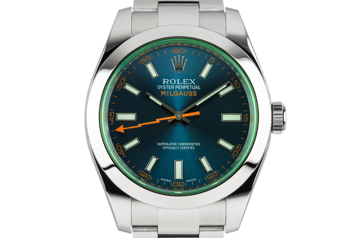 2015 Rolex Milgauss 116400GV Blue Dial with Box and Papers photo, #0