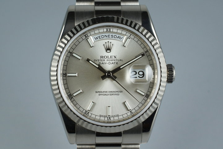 2006 Rolex WG Day-Date 118239 with Box and Papers photo