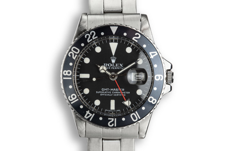 1978 Rolex GMT-Master 1675 Black Bezel with Service Papers photo