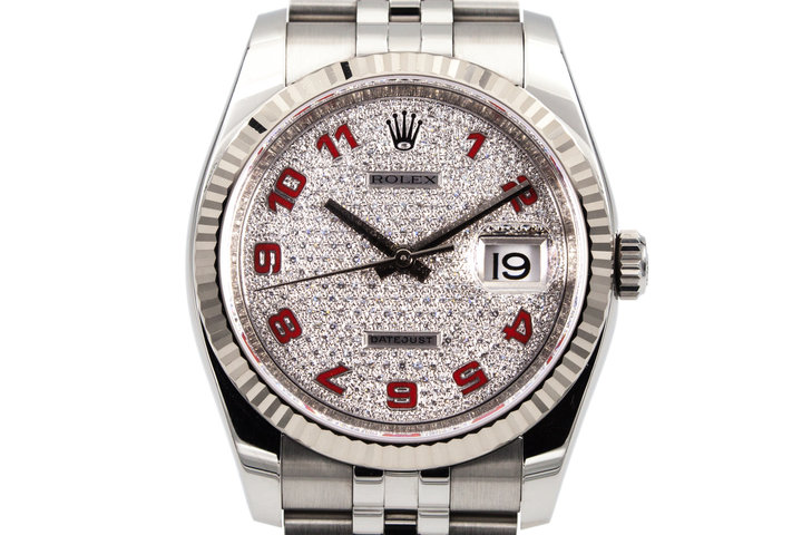 Rolex DateJust 116234 with Factory Paved Diamond Dial photo