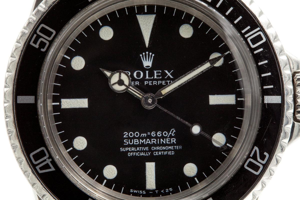 Hq Milton Vintage 1967 Rolex Submariner 5512 4 Line Dial