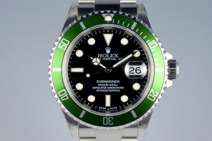 2004 Rolex Green Submariner 16610V Mark I Dial photo