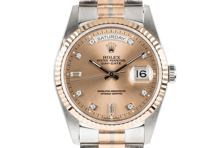1995 Rolex Day-Date 18239B with Diamond Dial and Tridor President Bracelet photo