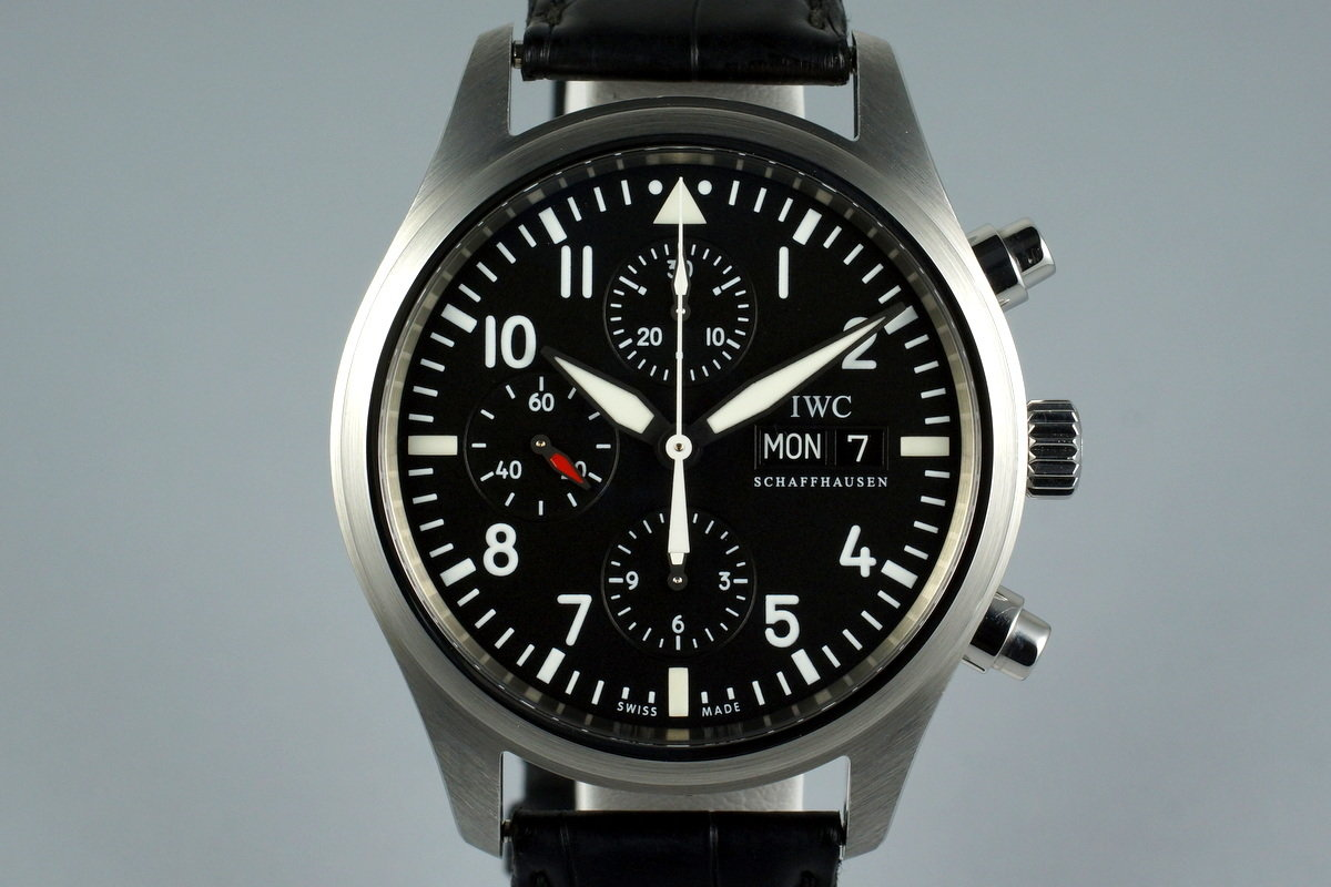 2009 IWC Pilot's Chronograph IW371701 with Box and Papers photo, #0