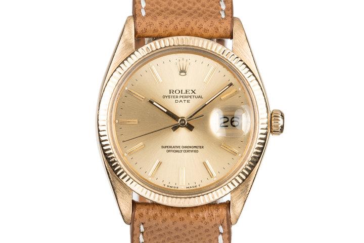 1978 Rolex 18K Date 1503 photo