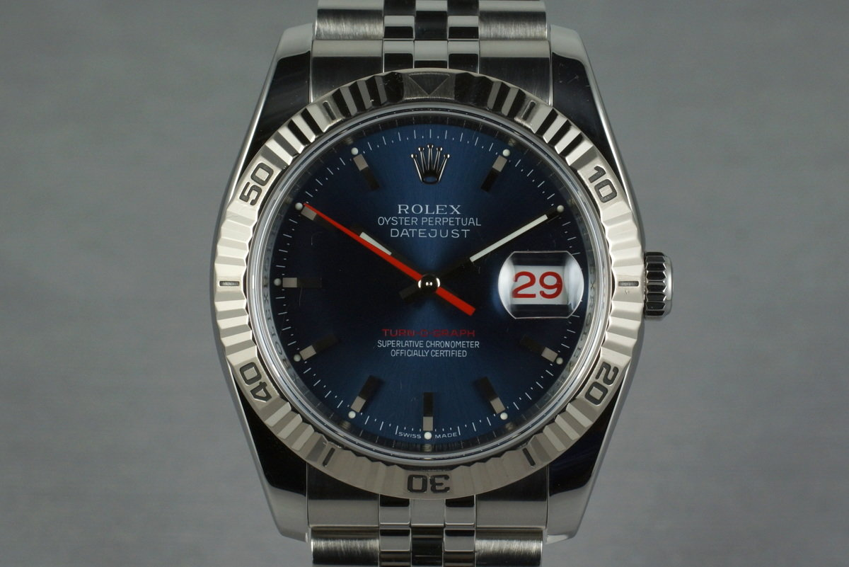 2005 Rolex DateJust 116264 Turn-O-Graph with Navy Dial photo, #0