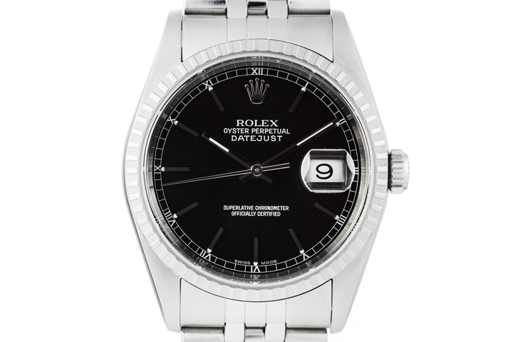 2003 Rolex DateJust 16220 Black Dial with Box and Papers photo