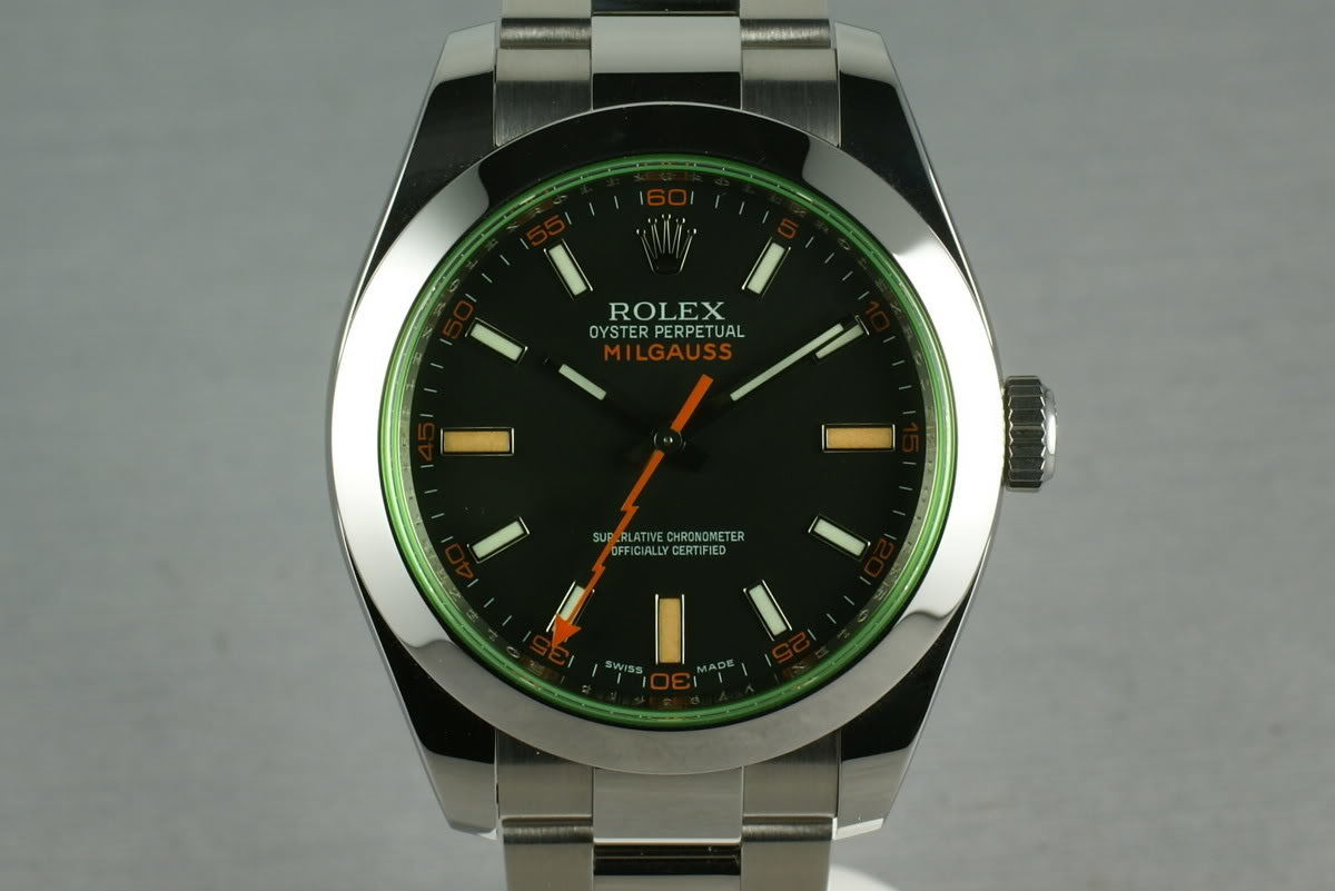 Rolex Milgauss Green 16400 GV with Box and Papers photo, #0