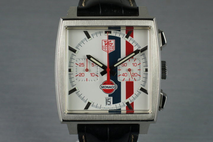 2006 Limited Edition Tag Heuer Monaco Chronograph CW2118 with Box & Papers photo