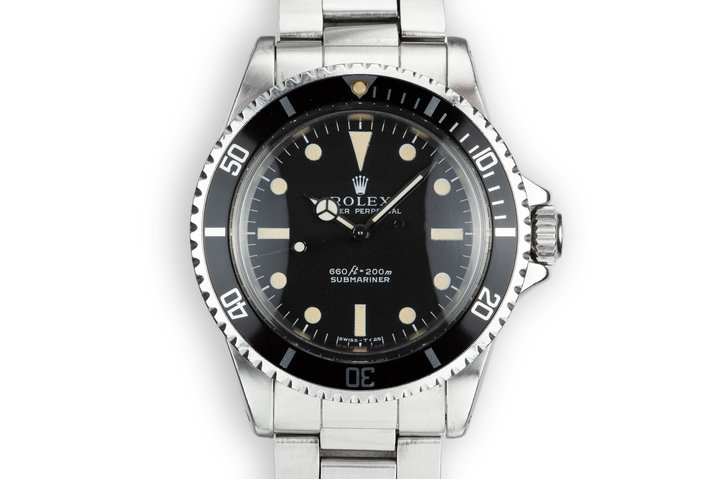 1968 Rolex Submariner 5513 Serif Dial photo