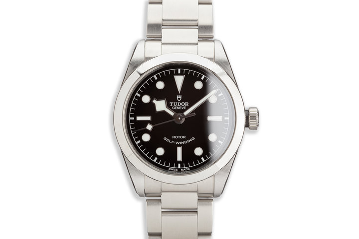 2019 Tudor 79500 Heritage Black Bay 36mm with Box and Card photo