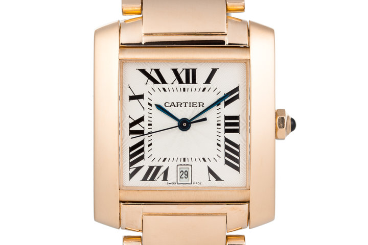 Cartier Yellow Gold Tank Francaise Date W50001R2 photo