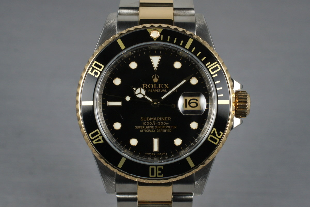 2007 Rolex Two Tone Submariner 16613LN with Box and Papers photo, #0