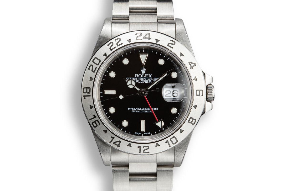 1999 Rolex Explorer II 16570 Black Dial photo, #0