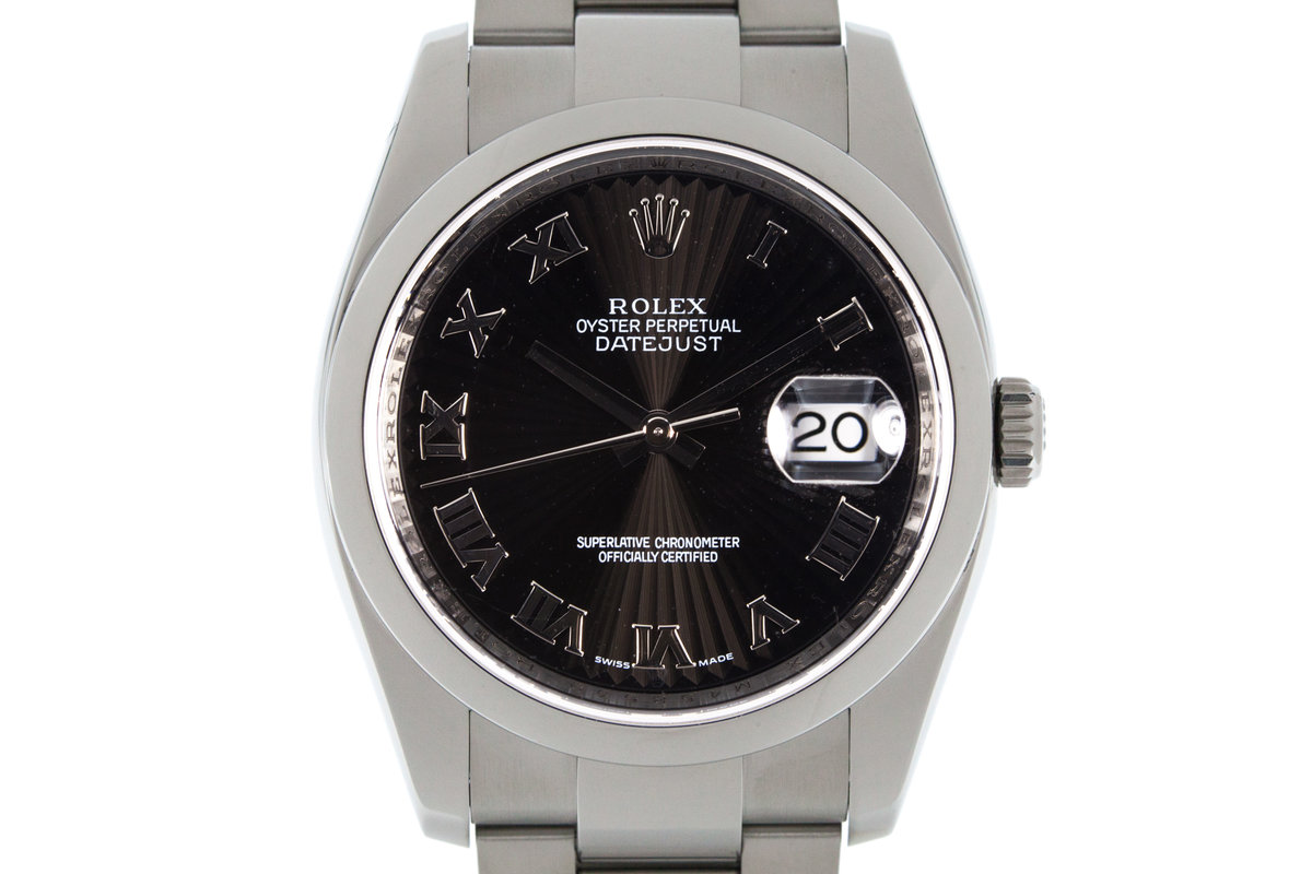 Rolex Datejust 116200 Black Sunburst Dial photo, #0