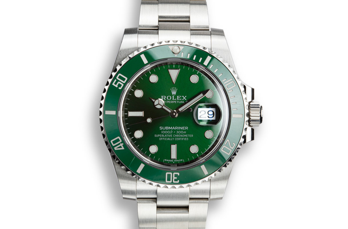 "2018 Rolex Green Submariner 116610LV ""Hulk"" with Box and Papers photo, #0"